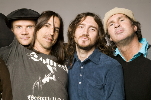 UNSPECIFIED - UNDATED: In this handout image made available on March 1, 2007 by MTV, members of the band Red Hot Chilli Peppers poses for a portrait shoot. Red Hot Chilli Peppers were announced as one of the nominees for the MTV Australia Video Music Awards 2007, which take place in Sydney on April 29 at the Acer Arena. (Handout Photo by MTV/Getty Images)
